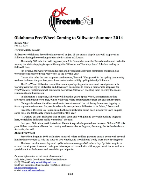 OK FreeWheel Stillwater Press Release copy