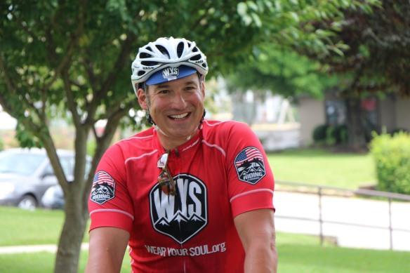Joe Ostaszewski is riding from Maryland to California, making 42 stops in nine states along the way.